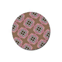 Pattern Texture Moroccan Print Rubber Coaster (round)