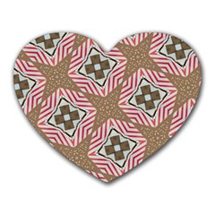 Pattern Texture Moroccan Print Heart Mousepads