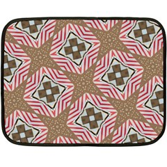 Pattern Texture Moroccan Print Double Sided Fleece Blanket (mini)