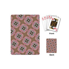 Pattern Texture Moroccan Print Playing Cards (mini)