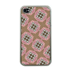Pattern Texture Moroccan Print Apple Iphone 4 Case (clear)