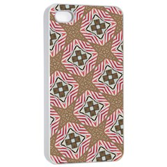 Pattern Texture Moroccan Print Apple Iphone 4/4s Seamless Case (white)