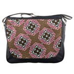 Pattern Texture Moroccan Print Messenger Bags Front
