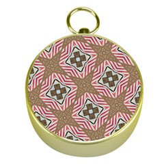 Pattern Texture Moroccan Print Gold Compasses