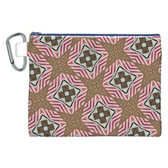 Pattern Texture Moroccan Print Canvas Cosmetic Bag (xxl)