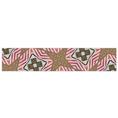 Pattern Texture Moroccan Print Small Flano Scarf
