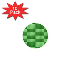 Wool Ribbed Texture Green Shades 1  Mini Buttons (10 Pack)
