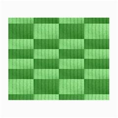 Wool Ribbed Texture Green Shades Small Glasses Cloth