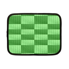 Wool Ribbed Texture Green Shades Netbook Case (small)