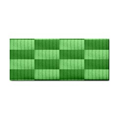 Wool Ribbed Texture Green Shades Cosmetic Storage Cases