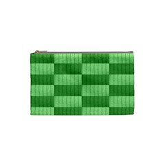 Wool Ribbed Texture Green Shades Cosmetic Bag (small)