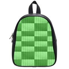 Wool Ribbed Texture Green Shades School Bag (small)