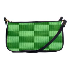 Wool Ribbed Texture Green Shades Shoulder Clutch Bags