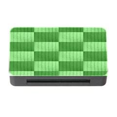 Wool Ribbed Texture Green Shades Memory Card Reader With Cf