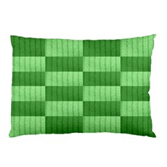 Wool Ribbed Texture Green Shades Pillow Case (two Sides)