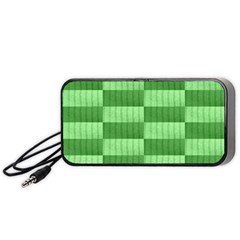 Wool Ribbed Texture Green Shades Portable Speaker