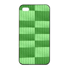 Wool Ribbed Texture Green Shades Apple Iphone 4/4s Seamless Case (black)