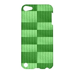 Wool Ribbed Texture Green Shades Apple Ipod Touch 5 Hardshell Case