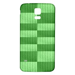 Wool Ribbed Texture Green Shades Samsung Galaxy S5 Back Case (white)