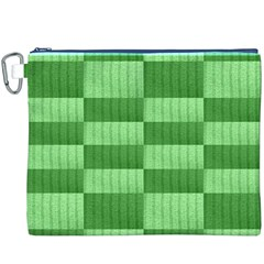 Wool Ribbed Texture Green Shades Canvas Cosmetic Bag (xxxl)
