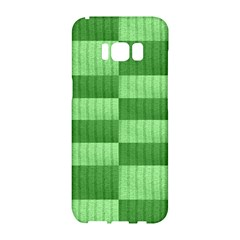 Wool Ribbed Texture Green Shades Samsung Galaxy S8 Hardshell Case