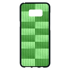 Wool Ribbed Texture Green Shades Samsung Galaxy S8 Plus Black Seamless Case