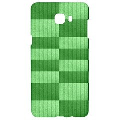 Wool Ribbed Texture Green Shades Samsung C9 Pro Hardshell Case