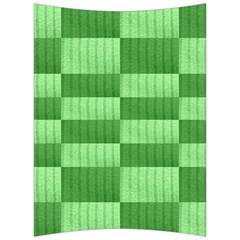 Wool Ribbed Texture Green Shades Back Support Cushion