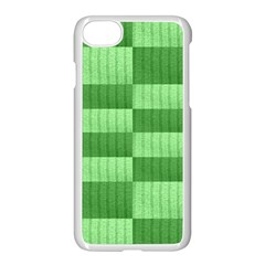 Wool Ribbed Texture Green Shades Apple Iphone 8 Seamless Case (white)