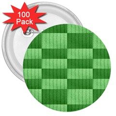 Wool Ribbed Texture Green Shades 3  Buttons (100 Pack)