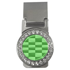 Wool Ribbed Texture Green Shades Money Clips (cz)