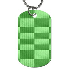 Wool Ribbed Texture Green Shades Dog Tag (one Side)