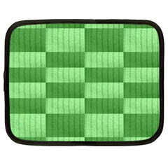 Wool Ribbed Texture Green Shades Netbook Case (xxl)