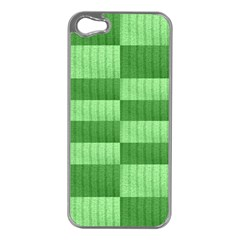 Wool Ribbed Texture Green Shades Apple Iphone 5 Case (silver)