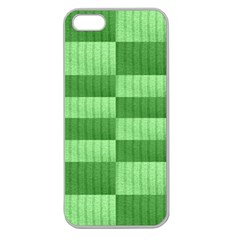 Wool Ribbed Texture Green Shades Apple Seamless Iphone 5 Case (clear)