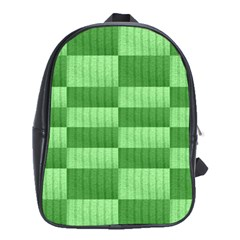 Wool Ribbed Texture Green Shades School Bag (xl)