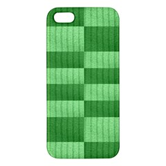 Wool Ribbed Texture Green Shades Apple Iphone 5 Premium Hardshell Case