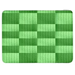 Wool Ribbed Texture Green Shades Samsung Galaxy Tab 7  P1000 Flip Case