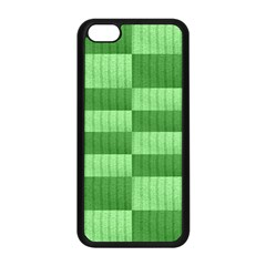 Wool Ribbed Texture Green Shades Apple Iphone 5c Seamless Case (black)