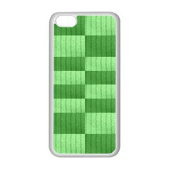 Wool Ribbed Texture Green Shades Apple Iphone 5c Seamless Case (white)