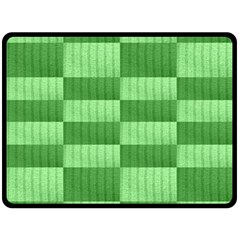 Wool Ribbed Texture Green Shades Double Sided Fleece Blanket (large)