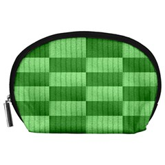 Wool Ribbed Texture Green Shades Accessory Pouches (large)
