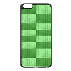 Wool Ribbed Texture Green Shades Apple Iphone 6 Plus/6s Plus Black Enamel Case