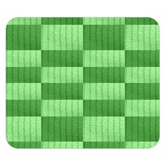 Wool Ribbed Texture Green Shades Double Sided Flano Blanket (small)