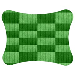 Wool Ribbed Texture Green Shades Jigsaw Puzzle Photo Stand (bow)