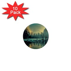 Yosemite Park Landscape Sunrise 1  Mini Magnet (10 Pack)