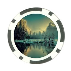 Yosemite Park Landscape Sunrise Poker Chip Card Guard (10 Pack)