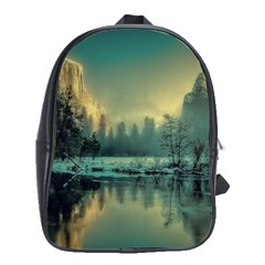Yosemite Park Landscape Sunrise School Bag (large)