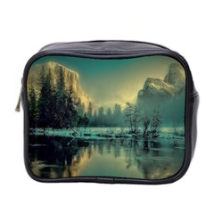 Yosemite Park Landscape Sunrise Mini Toiletries Bag 2 Side