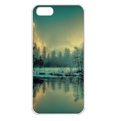 Yosemite Park Landscape Sunrise Apple Iphone 5 Seamless Case (white)